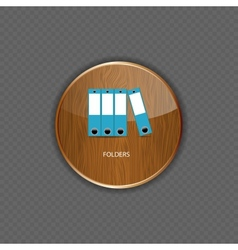 Folders wood application icons vector
