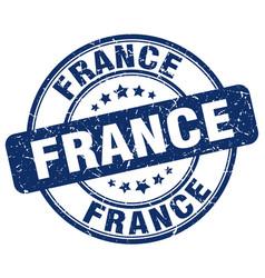 France blue grunge round vintage rubber stamp vector