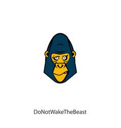 Funny head gorilla color vector