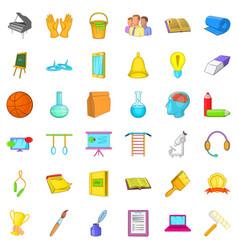 Good education icons set cartoon style vector