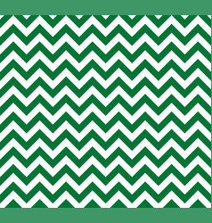 green and white zig zag seamless pattern vector image
