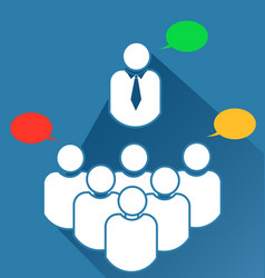 group business teamwork meeting icon vector image