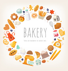 group dairy products bread and bakery goods vector image