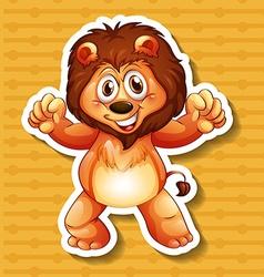 Happy lion vector