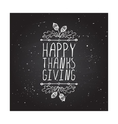 Happy Thanksgiving - typographic element vector
