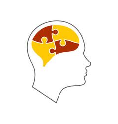 head icon for mental health vector image