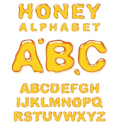 honey alphabet letters vector image vector image