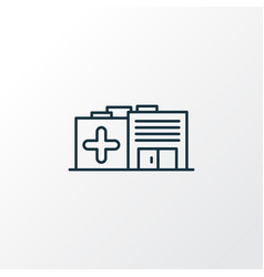 hospital icon line symbol premium quality vector image