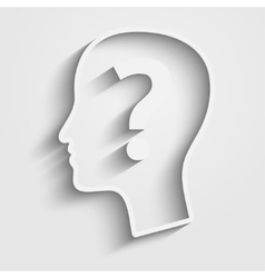 Human head with question vector image