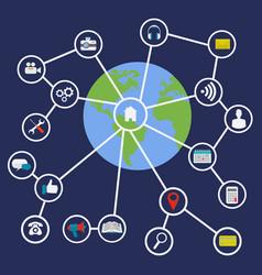 internet connectivity world concept vector image