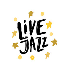 Jazz music poster calligraphy lettering vector