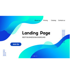 Landing page template abstract liquid vector