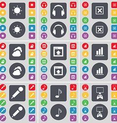 Light Headphones Stop Cloud Window Diagram vector
