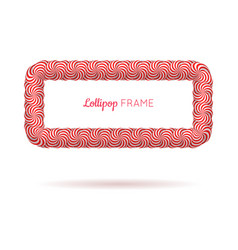 Lollipop red rectangle frame vector