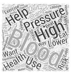 Lowering Your Blood Pressure Word Cloud Concept vector