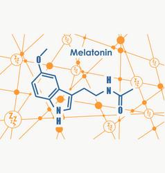 melatonin hormone molecule vector image