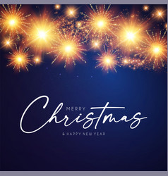 merry christmas design template with shining vector image
