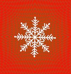 Merry Christmas snowflake vector image