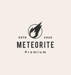 Meteorite impact hipster vintage logo icon vector
