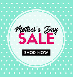 mothers day sale banner for social media vector image