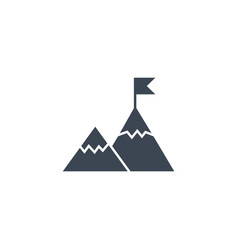 mountains related glyph icon vector image