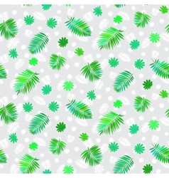 Pattern with leafs inspired by tropical nature vector image