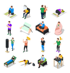 People under stress set vector