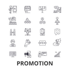 Promotion sale advertising job products vector