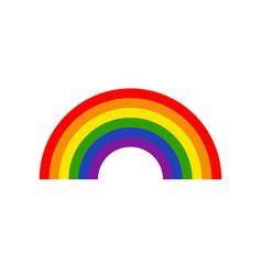 rainbow flat icon vector image