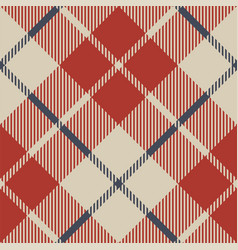 Red blue tartan fabric texture seamless pattern vector