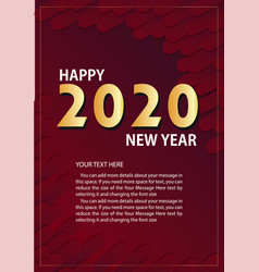 red new year 2020 - invitation flyer vector image
