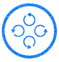 Rotation rounded grainy icon vector