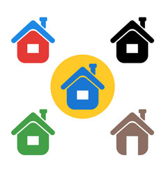 set house icon the sign of the house vector image
