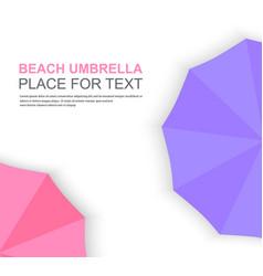 set of beach umbrellas vector image