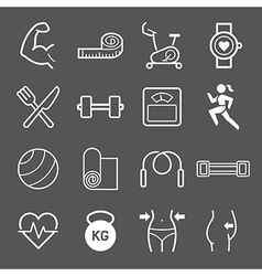 Set of exercise icons vector image