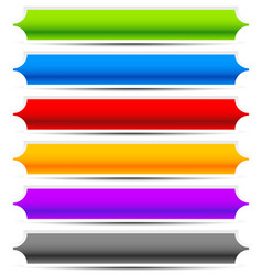 Set of oblong button banner backgrounds in vector