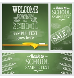 Set of school banners - different web site vector