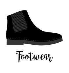 Shoes with text footwear vector