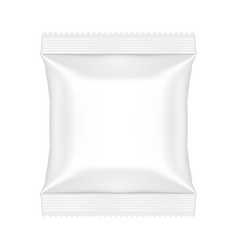snack pouch food bag template mock up vector image