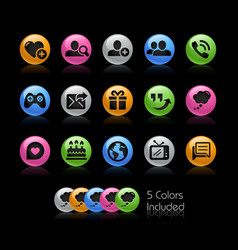 social communications icon set - gelcolor series vector image