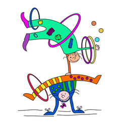 speech clowns funny circus vector image