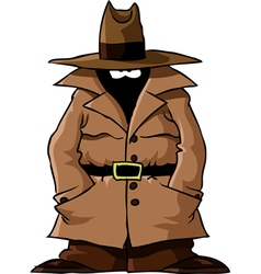 spy in the cloak vector image