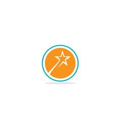 Star emblem shine logo vector
