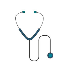 stethoscope medical isolated icon vector image