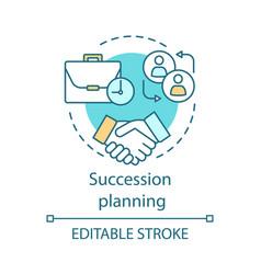 Succession planning concept icon vector
