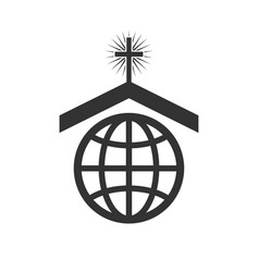 symbol or icon christian church worldwide vector image