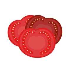 Tomato vegetable isolated icon vector