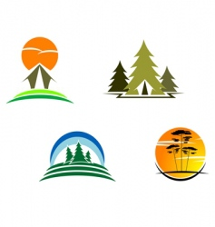 tourism symbols vector image