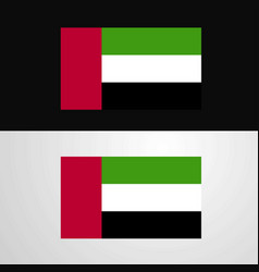 uae flag banner design vector image