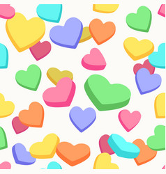 valentine candy hearts pattern vector image